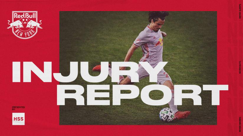 INJURY REPORT, pres. by HSS: New York Red Bulls vs. Sporting Kansas City