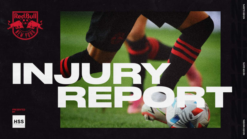 INJURY REPORT, pres. by HSS: NYCFC vs. New York Red Bulls