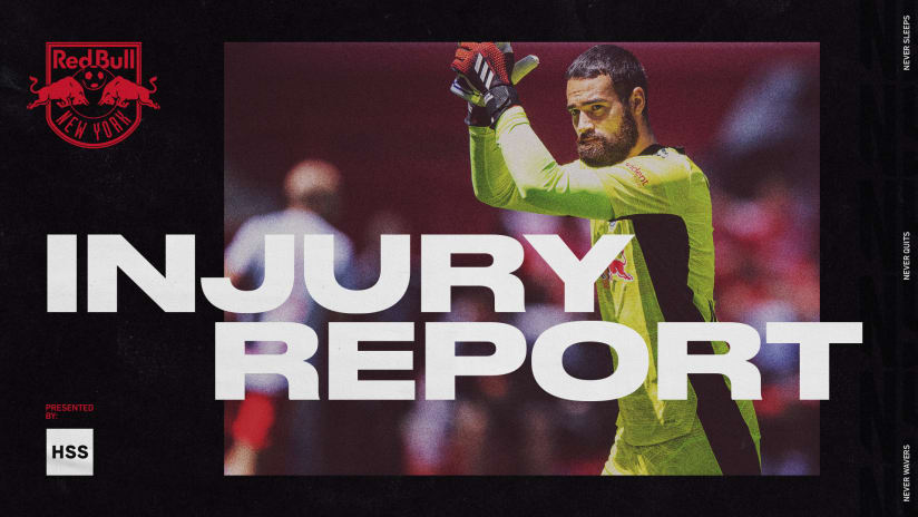 INJURY REPORT, pres. by HSS: New York Red Bulls vs. Toronto FC
