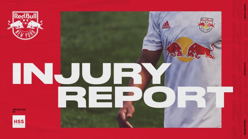 INJURY REPORT, pres. by HSS: New England Revolution vs. New York Red Bulls