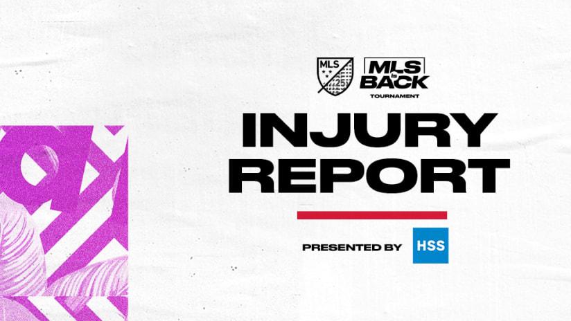 MLS is Back Injury Report