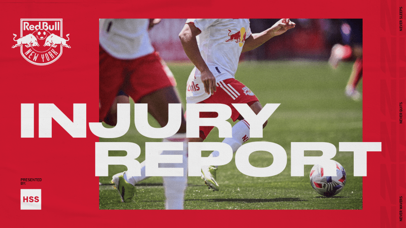 INJURY REPORT, pres. by HSS: Philadelphia Union vs. New York Red Bulls