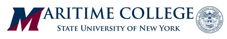 SUNY Maritime logo - WHITE