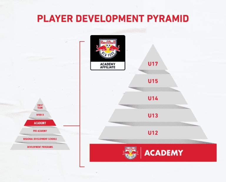 Academy Affiliate Player Development Pyramid