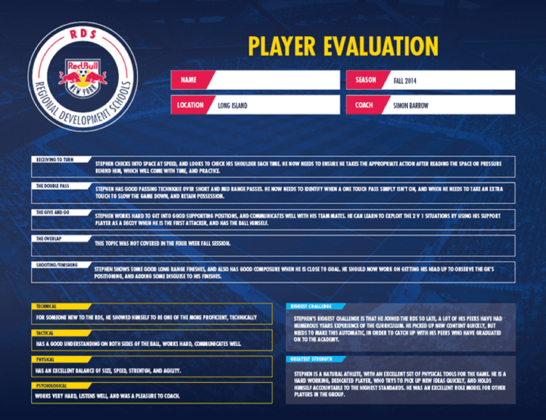 RDS Player Eval
