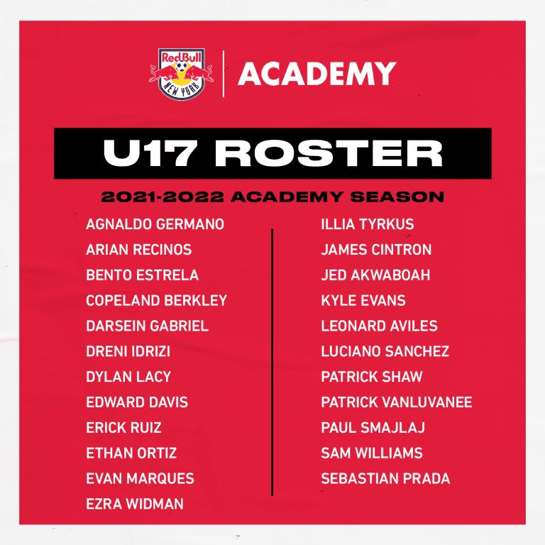 U17 Roster - 2021-22 Season