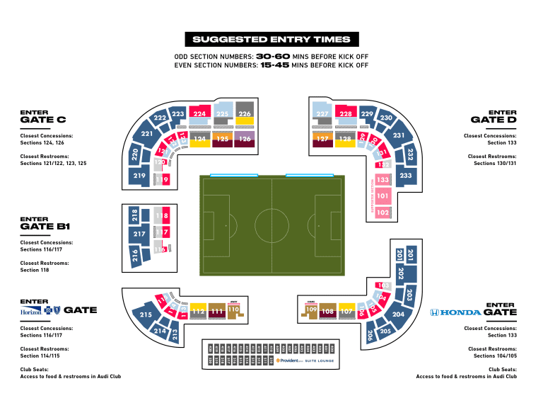 2021 Red Bull Arena Map