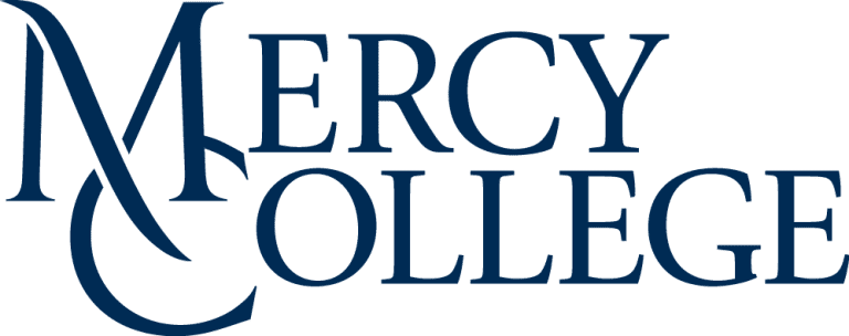 Mercy Stacked NEW Blue - WHITE
