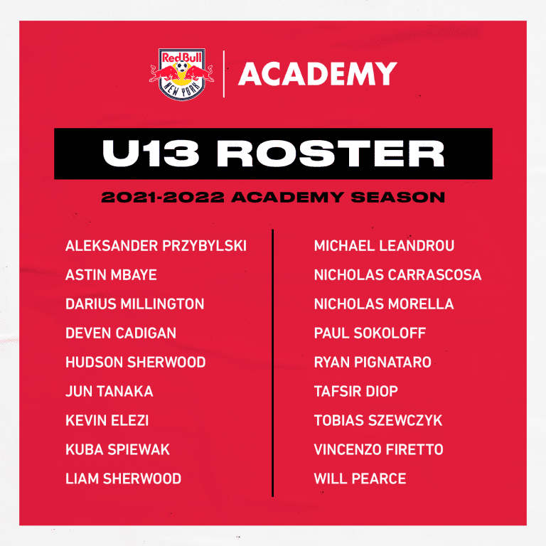 U13 Roster - 2021-22 Season