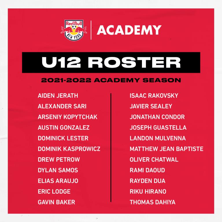 U12 Roster - 2021-22 Season