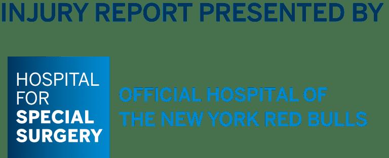 INJURY UPDATE, presented by HSS: New York Red Bulls vs. San Jose Earthquakes - https://newyork-mp7static.mlsdigital.net/elfinderimages/HSS_OFFICIAL_HOSPITAL_InjuryReport.png
